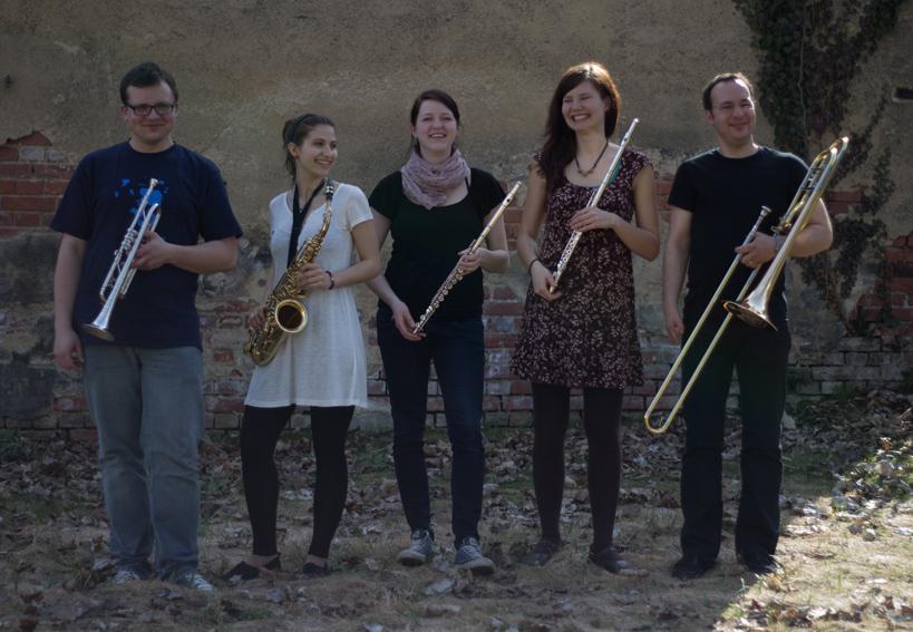 Bläser-Besetzung: Franz Bayer (Trompete), Markus Langner (Trompete), Max (Flügelhorn), Magda und Theres (Querflöte)
